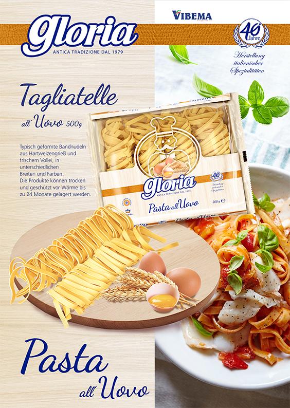 Tagliatelle, Gloria, Bandnudeln, Pasta all uovo, Eierteigwaren